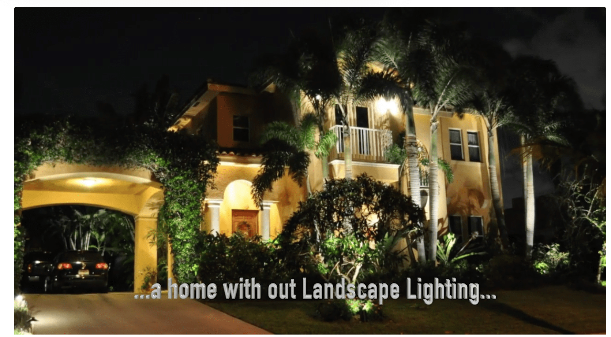 A Home without Landscape Lighting